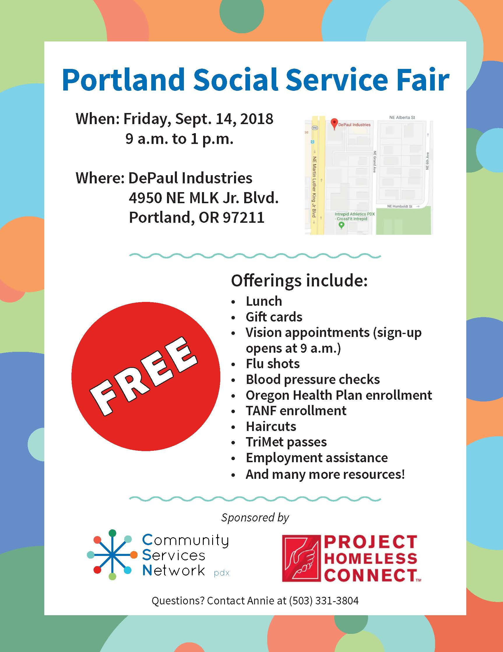 DePaul Industries Hosting Portland Social Service Fair Sept